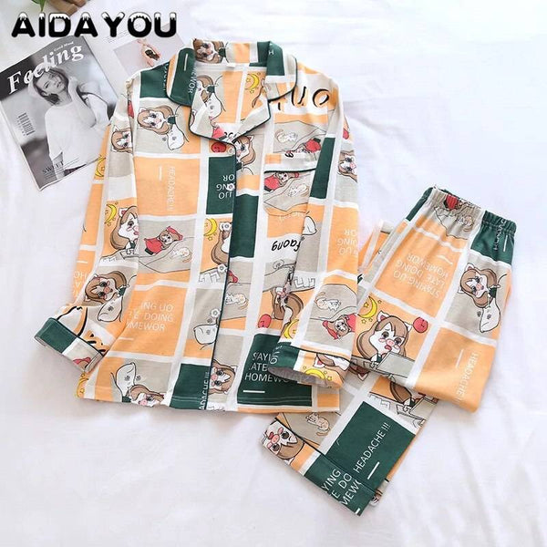 Women Cotton Pajamas Sets