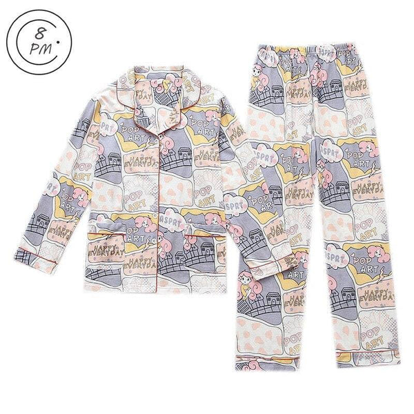 Women Full Cotton Pajamas Sets