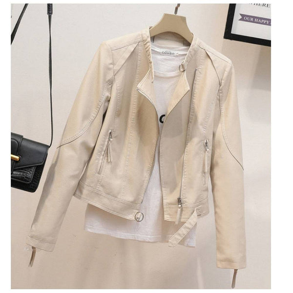 Womens Short Jacket  PU Leather