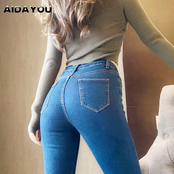 Sexy Butt Jeans for Women Straight
