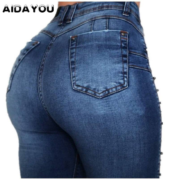 Womens Push Up Jeans High Waist Plus Size Butt Lifting Bottom Up Denim Pants Columbia