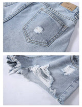 Women High Waist Denim Shorts