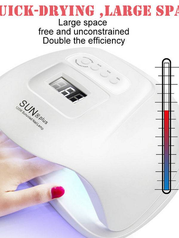 120W Nail Dryer Fast SUN X UV Plus LED Nail Lamp Makeup Tool