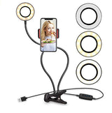 Selfie Ring Light with Cell Phone Holder Stand for Live Stream Makeup Tool