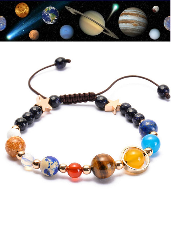 Universe Galaxy The Eight Planets Star Bracelet