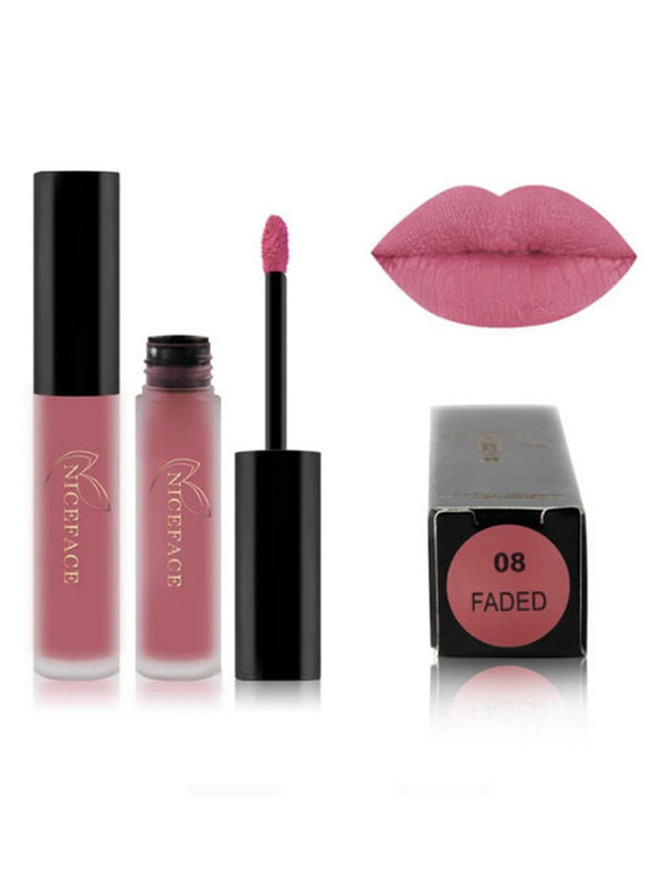 Makeup Lip Gloss Pigment Metallic Nude Matte Liquid