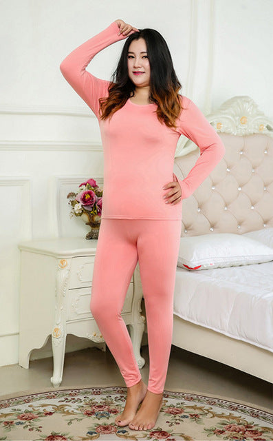 plus size 6xl  Women's Thermal Fleece Underwear