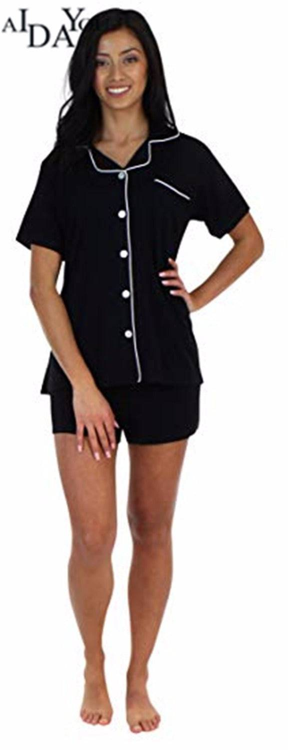 Pajama Pure Color Satin Women's Sleepwear Jersey