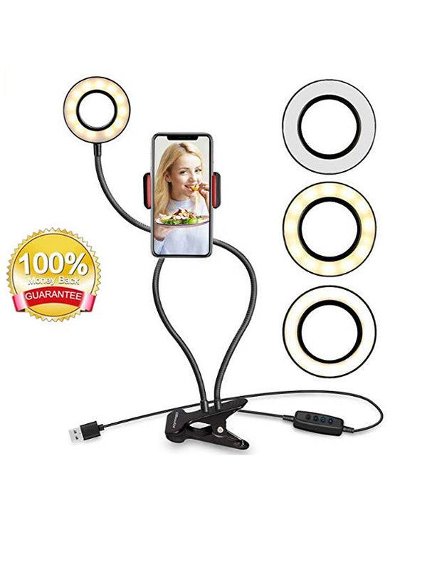 Selfie Ring Light with Cell Phone Holder