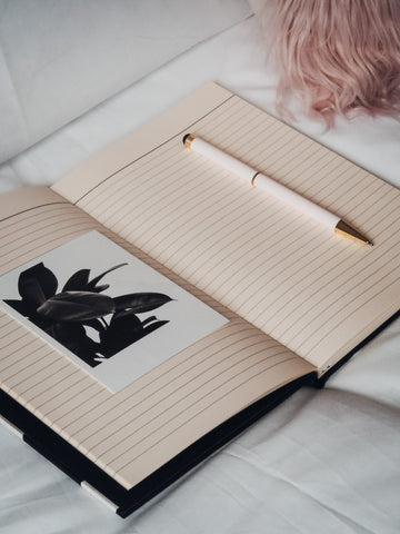 Eco-Friendly Fabric Covered Notebook Ruled - Zalinah White London Based Independent Womenswear Brand