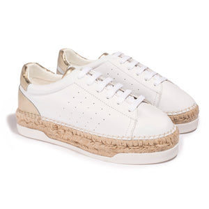 Basket Espadrille Lancry Queen pour femme - Light Gold