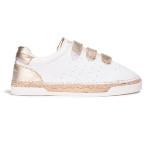 Basket Espadrille Wonder pour femme - Light Gold