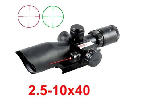 2.5-10X40 Illuminated Tactical Riflescope with Red Laser - realmanscave