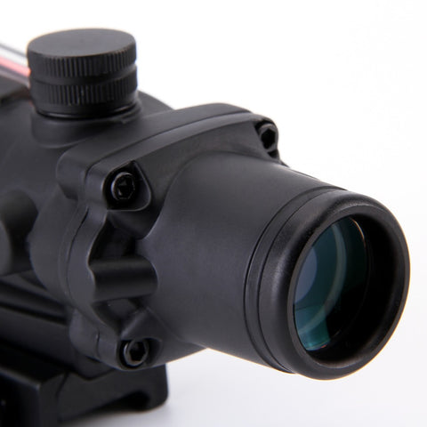 Trijicon ACOG 4X32 Fiber Source Red Illuminated Scope - realmanscave