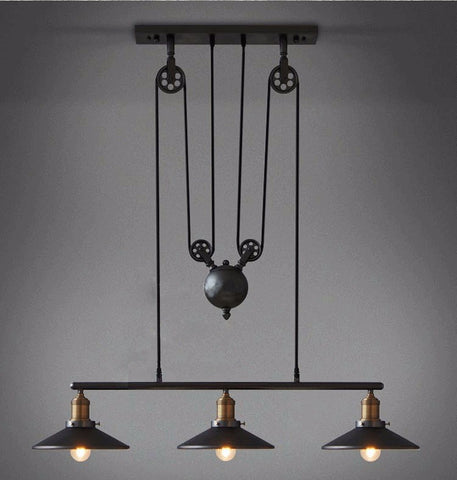 Pulley Lamp Bar - realmanscave
