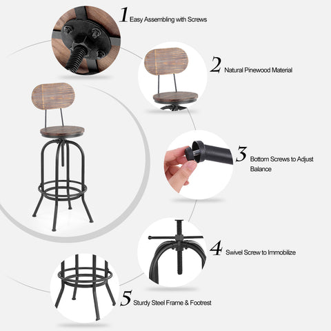 Industrial Style Bar Stool - realmanscave