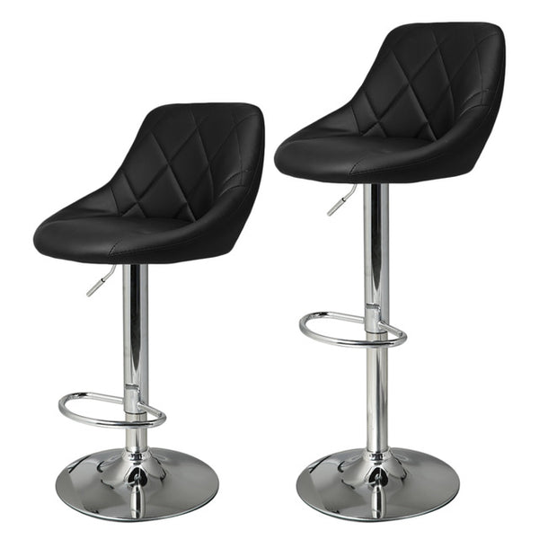 2pcs Synthetic Adjustable Swivel Bar Stool
