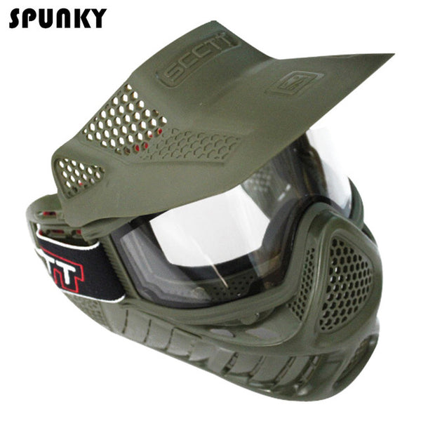 High Strength Airsoft Mask with Double Lens Goggle