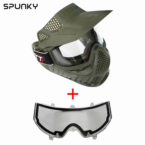 High Strength Airsoft Mask with Double Lens Goggle - realmanscave