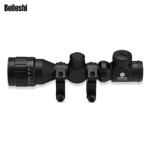 2 - 6 x 32AOEG Riflescope With 20mm Rail Mount - realmanscave