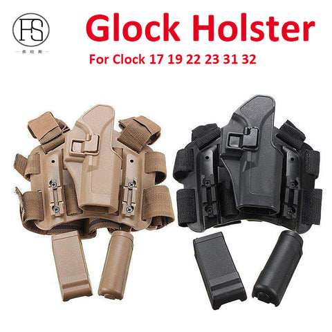 Tactical Gun Holster For Glock 17 19 22 23 31 32 Three Color - realmanscave