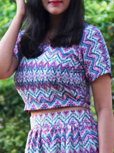 Aztec Top - WhySoBlue