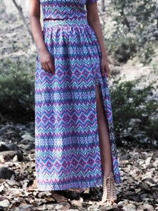 Aztec Skirt - WhySoBlue