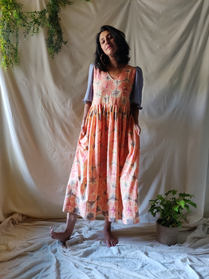 Citrus pleated dress - WhySoBlue
