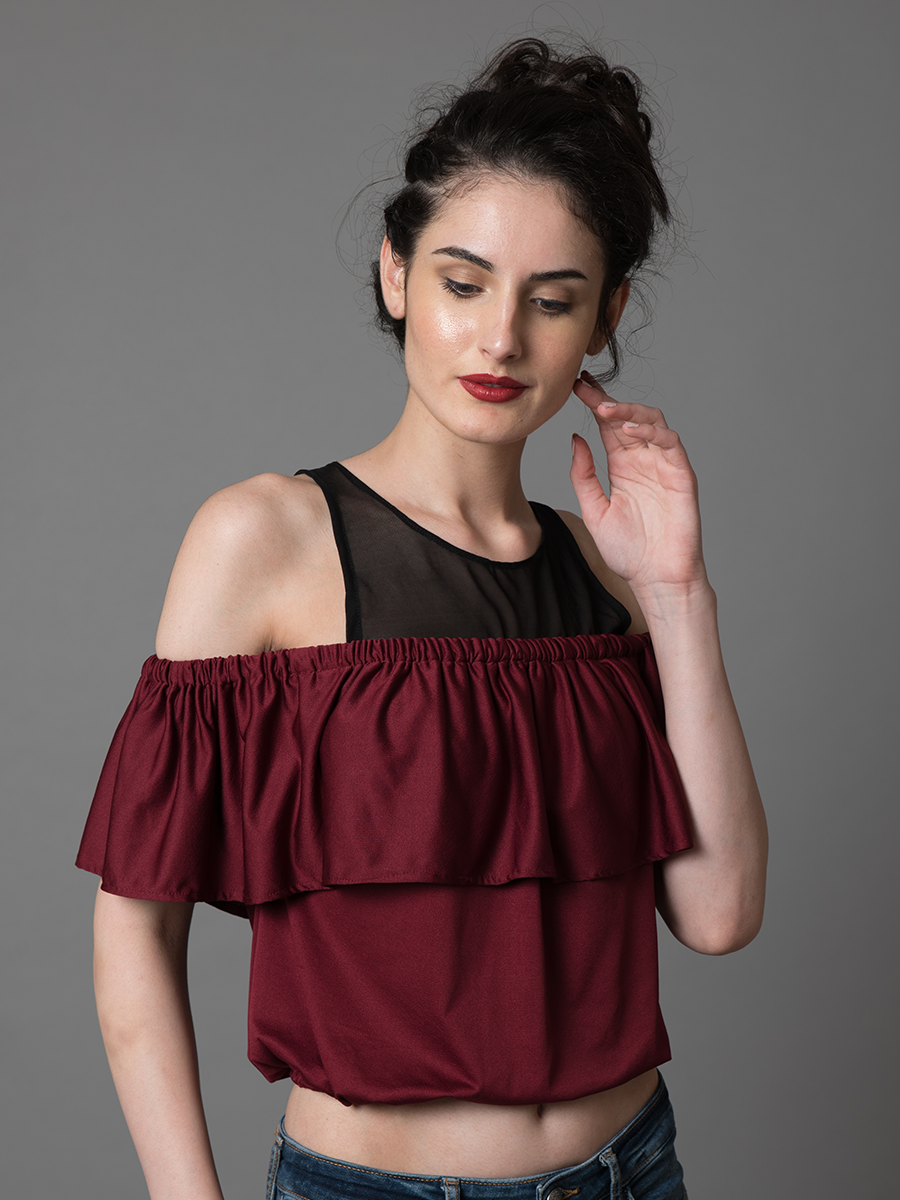 Cold Shoulder Layered Top