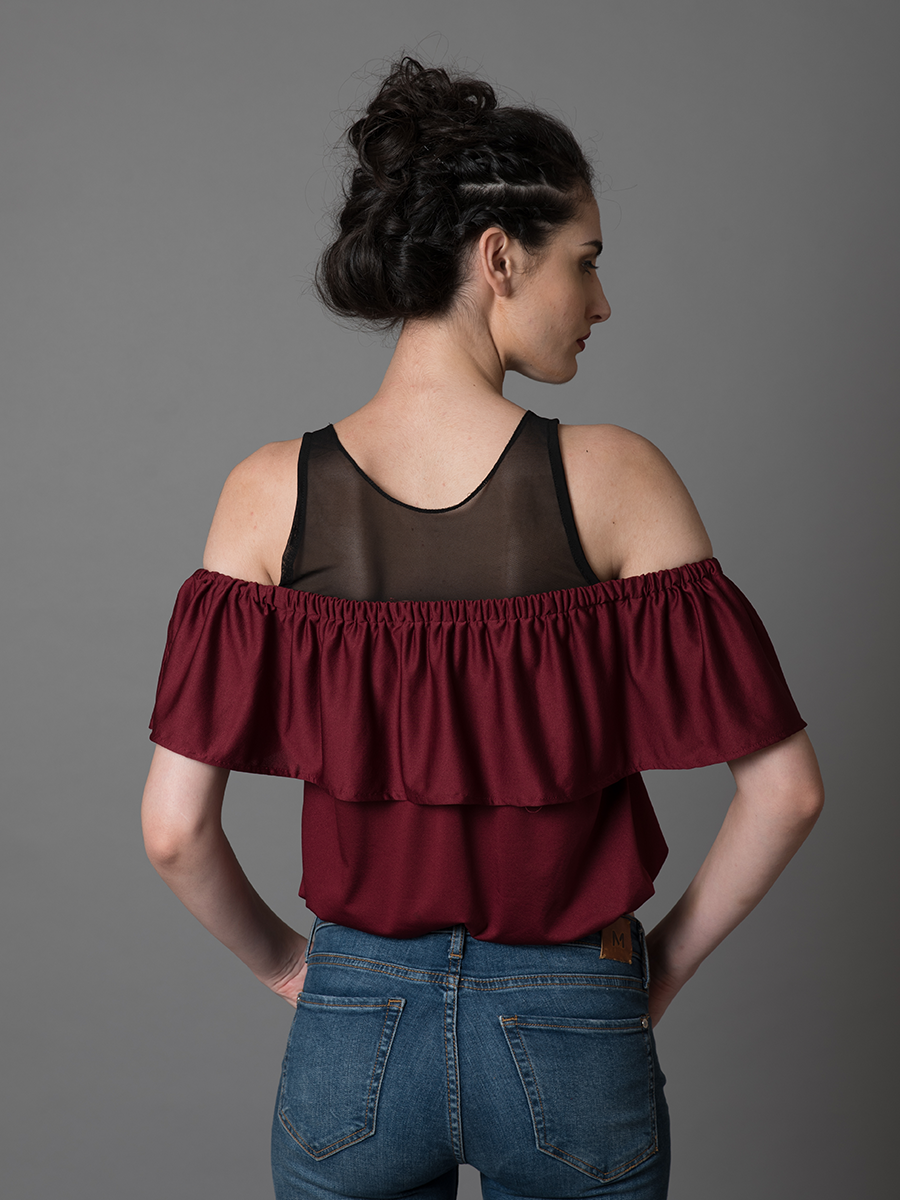 Cold Shoulder Layered Top - WhySoBlue