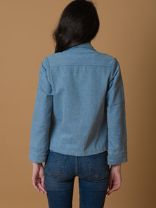 Denim Embdoirdered Jacket - WhySoBlue