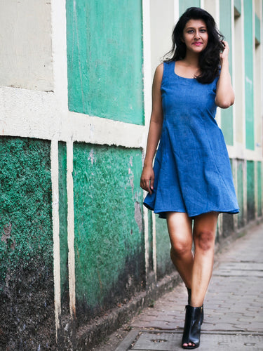 Flow-In-Denim Dress