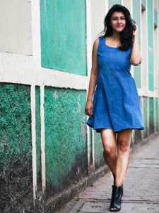 Flow-In-Denim Dress - WhySoBlue