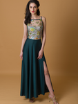 Full Swing Gown with Embroidered Bodice