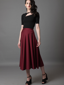 Full Swing Maroon Skirt - WhySoBlue