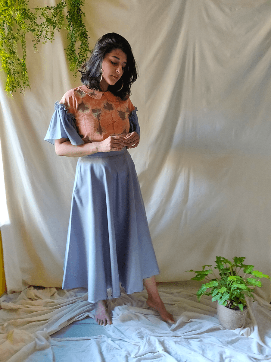 Citrus top and skirt set - WhySoBlue