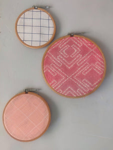 Pink Summer Hoop Art Set - WhySoBlue