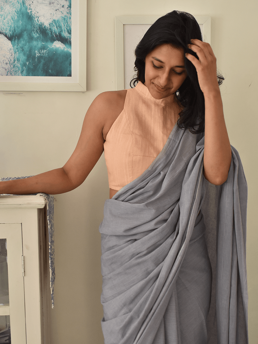 Aambal (Peach blouse) - WhySoBlue