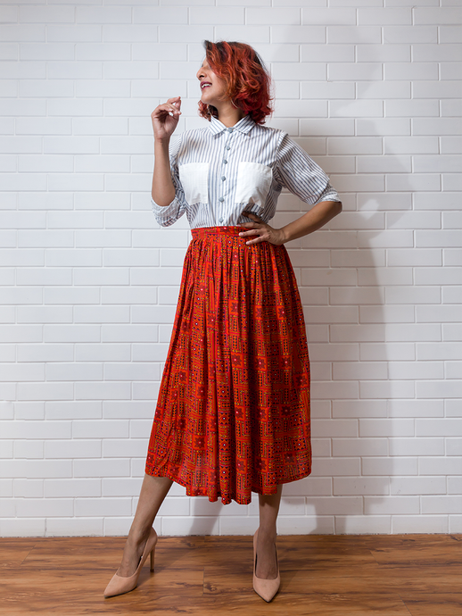 Mimosa skirt & Earl Grey Shirt Set - WhySoBlue