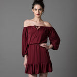 Off-My-Shoulders Ruffled dress - WhySoBlue