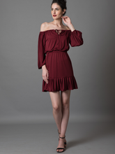 Off-My-Shoulders Ruffled dres - WhySoBlue