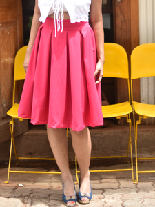 Pink Box pleat skirt - WhySoBlue