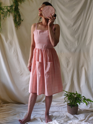 Peach Strappy Dress - WhySoBlue