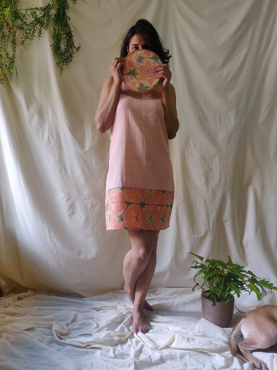 Peach Tie-Back Dress - WhySoBlue