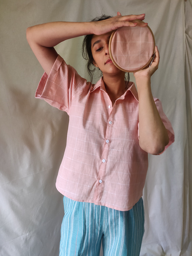 Peach crop shirt - WhySoBlue