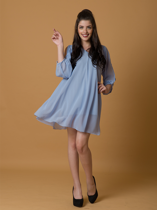 8aa9bd84a052 Periwinking-At-You Flowy Dress - WhySoBlue