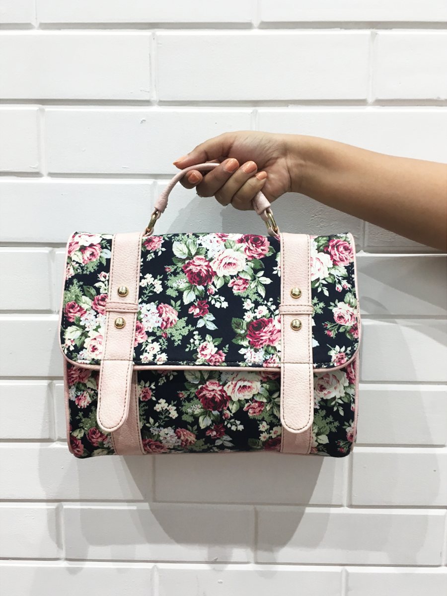 Floral Buckle Bag - WhySoBlue