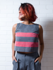 Salmon and Slate Crop top - WhySoBlue