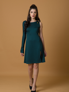 Stand Tall One Sleeve Dress - WhySoBlue