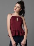 Strappy Ruffled Top